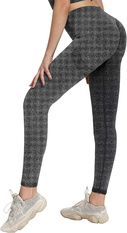 youyou Yoga Pants Women's High Waist Seamless Yoga Leggings Tummy Control Ankle Workout Tight