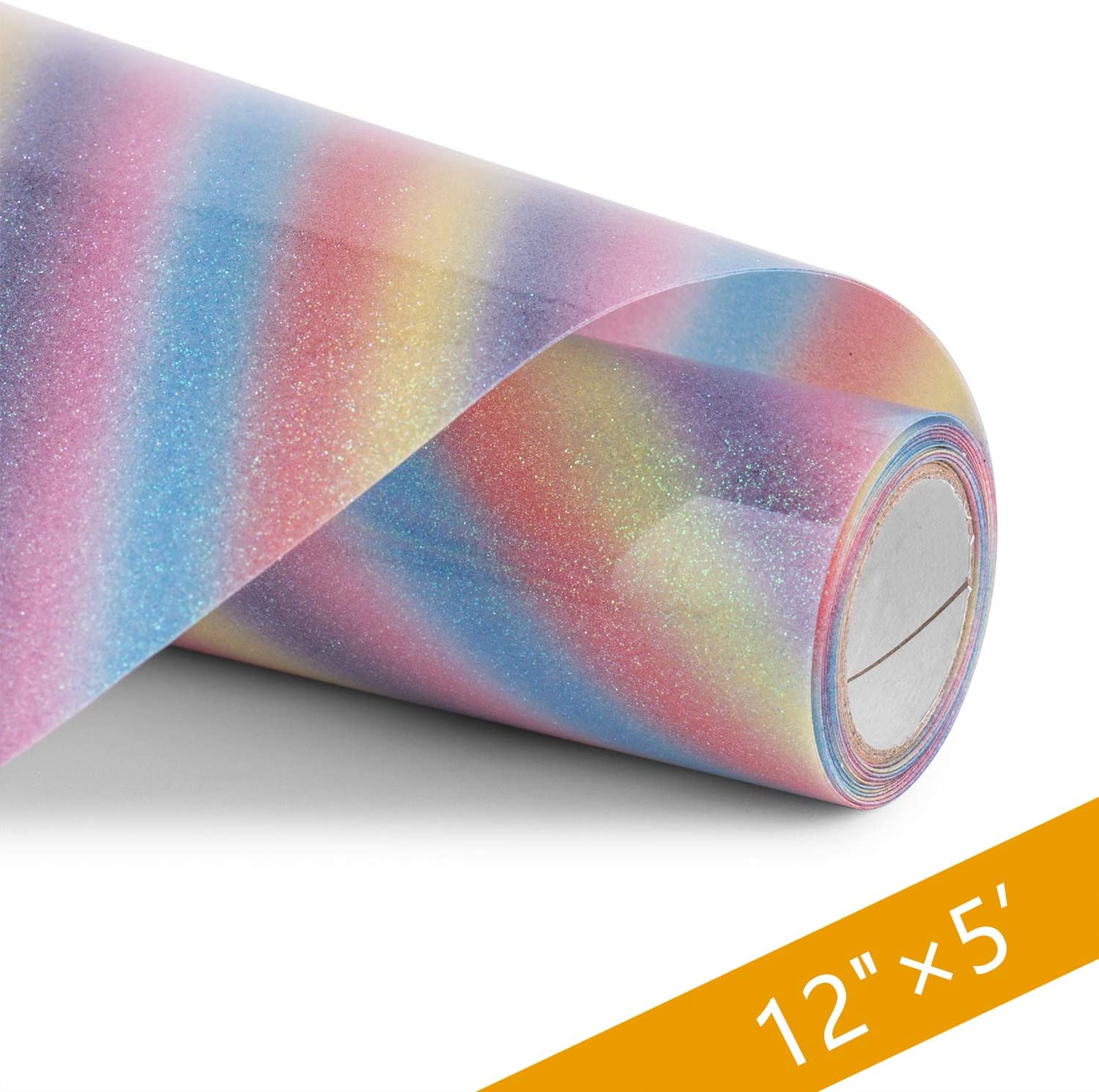 Rainbow Glitter HTV Vinyl HenPisen 12inx5ft Heat Transfer Vinyl for Cricut /& Silhouette Cameo Easy to Cut /& Weed Pillows and Other Textiles Durable,Vibrant Color Iron on Vinyl for DIY T-Shirts Caps