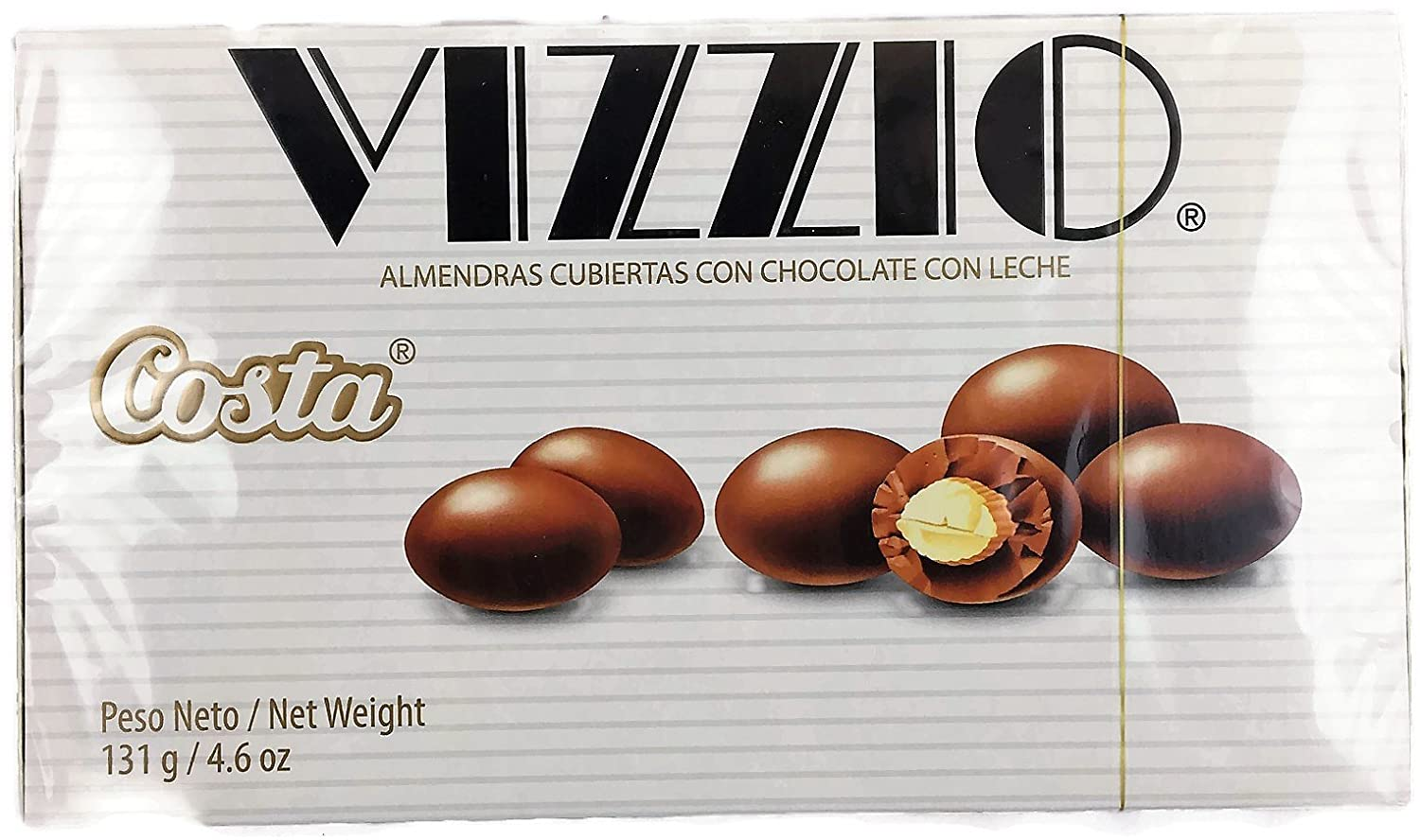 Amazon.com : Peruvian Chocolate Vizzio Almond Covered With Chocolate 131 Grams 4.6 oz 1 Box : Grocery & Gourmet Food