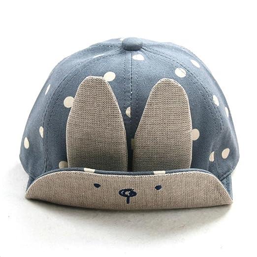 9988eab5d09 Tloowy Toddler Baby Boy Girl Cute Rabbit Ear Baseball Hat Lightweight  Summer Sun Hat Cap for