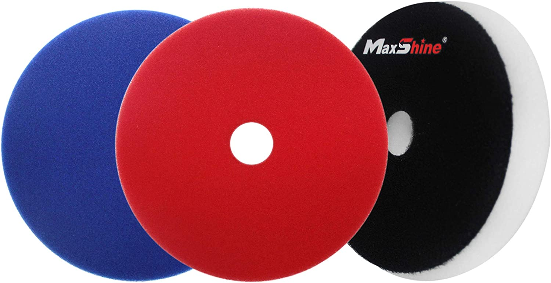 Perfectly Used with DA//RO Polisher Maxshine Medium Pro White Foam Cutting Pad with Hole-130-140X20mm// 5.2 inches