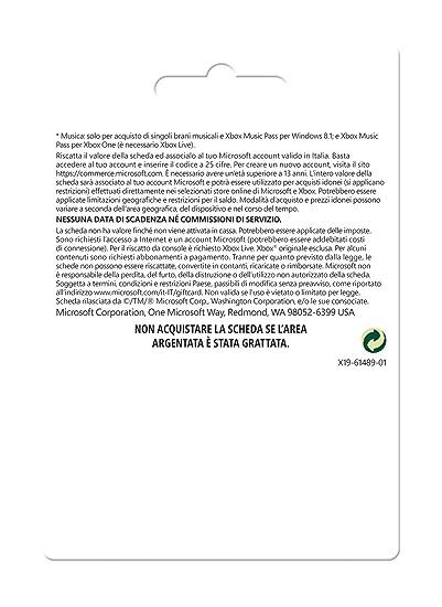 Microsoft - Xbox Live Tarjeta Regalo 25 Euro (Xbox): Amazon.es ...