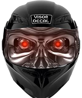 1bcd5890 V04 Robot VISOR TINT DECAL Graphic Sticker Helmet Fits: Icon Shoei Bell HJC  Oneal Scorpion