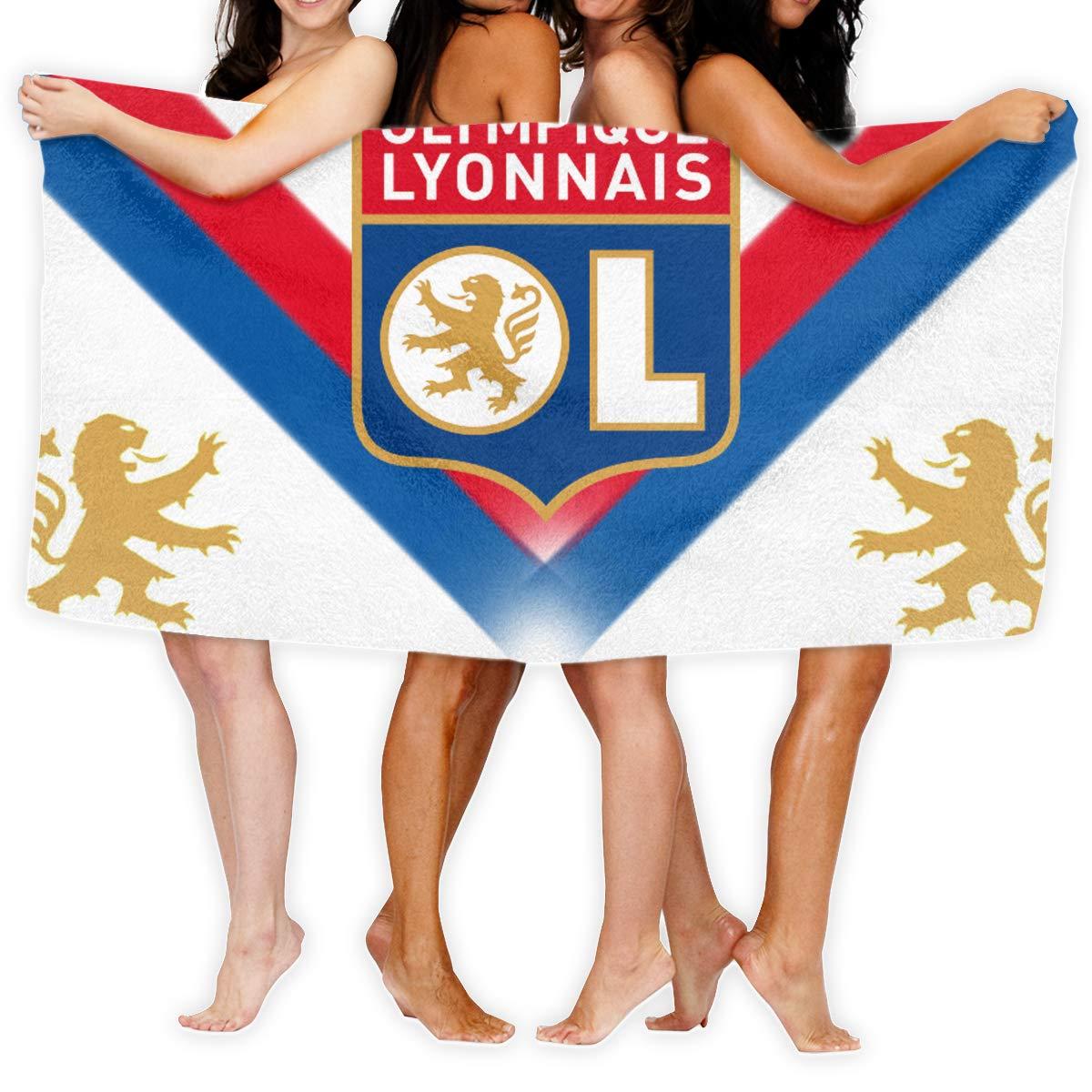 Drap De Bain pour Voyage Et Fitness S/échage Rapide Serviette De Plage pour Femme Homme Et Enfants FFYS-BSTG Olympique Lyonnais Serviette Microfibre