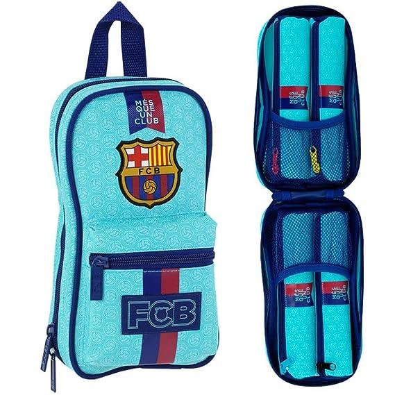 FC Barcelona 2ª Equipación - Neceser con 4 estuches, 120 x 50 x 230 mm