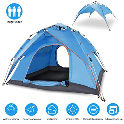 86856366325 Cheryu Automatic Hydraulic Double Layers Tent for Camping Beach Outdoor  Hiking Fishing Travel