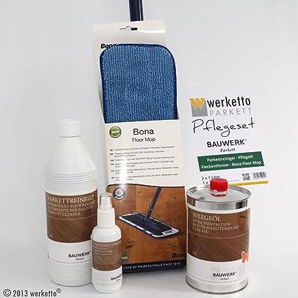 werketto Cuidado Juego – Diseño de aceite, limpiador de parqué, quitamanchas & Floor Mop