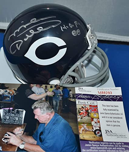 Mike Ditka Autographed//Signed Chicago Bears Mini Helmet 62-73 BAS