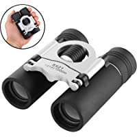 Compact Binoculars, 8x21 Small and Lightweight Mini Pocket Folding Binoculars with Fully Coated Lens for Hunting Hiking Bird Watching Concert Opera Theater Adults Kids