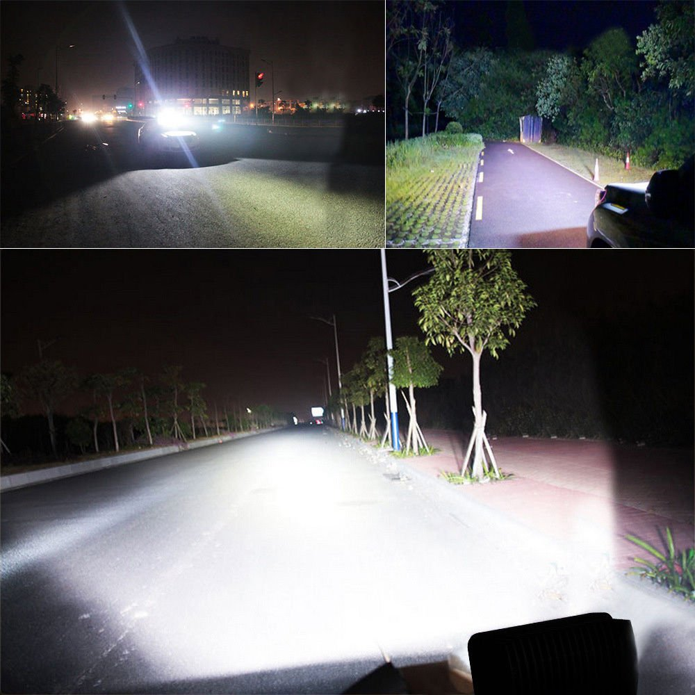 Yuanline/® 12V 24V 96W Luce di corsa automatica di giorno dellautomobile del faro dellautomobile ha condotto la lampada di lavoro del riflettore IP67 impermeabile SUV Cantiere 8
