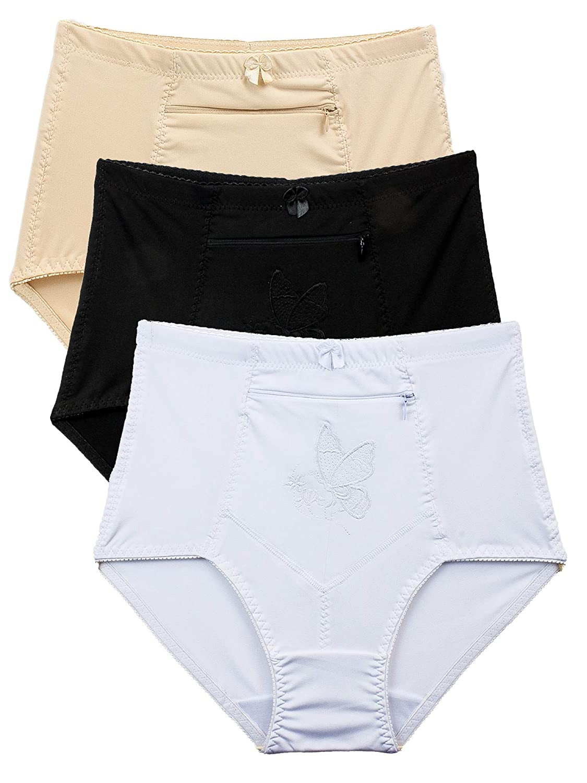 011609ace Barbra s Women s Travel Pocket Underwear Girdle Brief Panties S-4XL ...