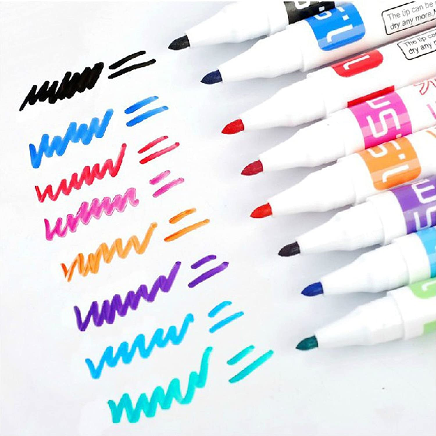 GuanHeag Home 8 Colour Kids Whiteboard Marker Non Toxic Dry Erase Easy Wipe Bullet Tip Pen