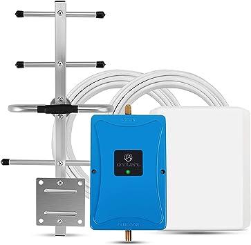 ANNTLENT Amplificador Señal Movil 4G LTE 800MHz Band 20 Repetidor Teléfono Celular 70 dB Mejora Datos para el hogar y la Oficina Soporte Movistar/Orange/Vodafone: Amazon.es: Electrónica