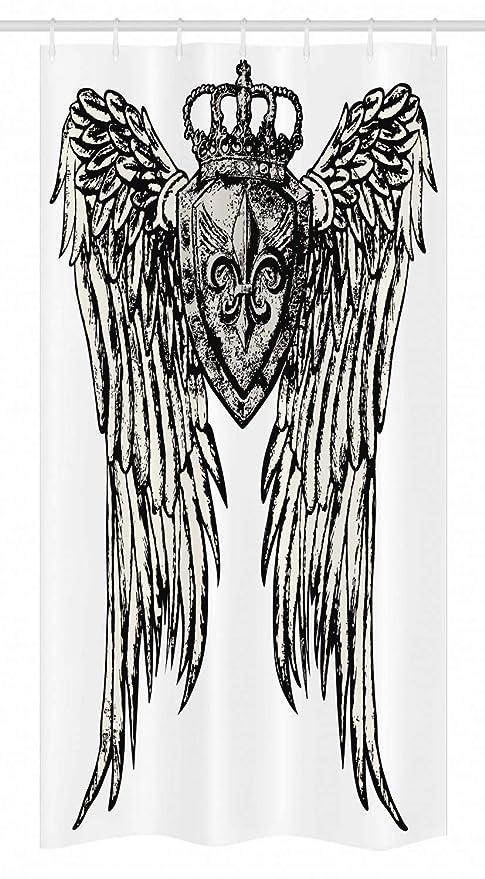 Fleur de Lis establo cortina de ducha por Ambesonne, diseño de ...