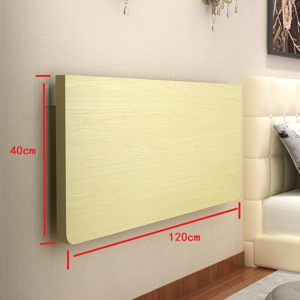 XIAOLIN 家庭用シンプルな壁のテーブルの折り畳みのテーブルのダイニングテーブル壁掛けテーブルの壁のテーブルの壁のテーブルコンピュータデスクのデスクの壁のテーブル厚い金属のブラケットの折り畳みのスペースを保存するオプションの色、サイズ (色 : 木の色, サイズ さいず : 120cm) B07DWKG6GH 120cm|木の色 木の色 120cm