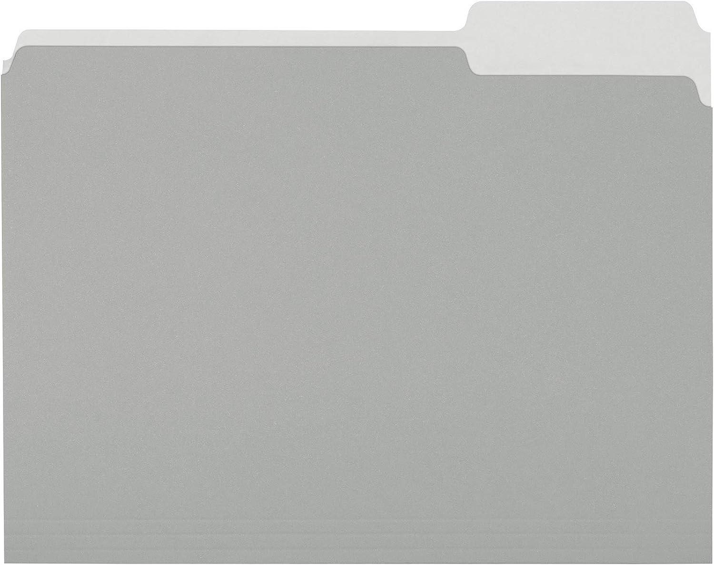 AmazonBasics File Folders, Letter Size, 1/3 Cut Tab, Gray, 36-Pack