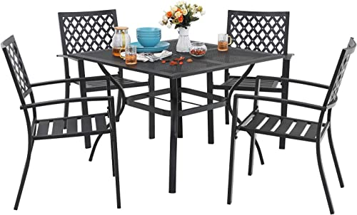 MF 5 Piece Outdoor Patio Metal Dining Set