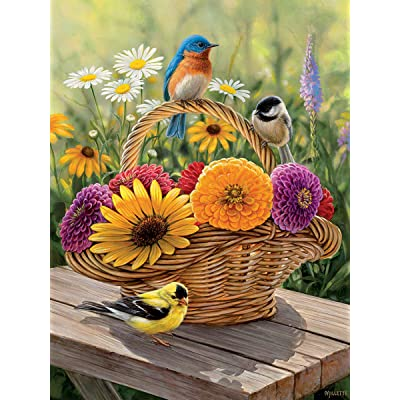 Cobblehill 58886 Tray 35 Bluebird and Bouquet Puzzle, Various: Toys & Games