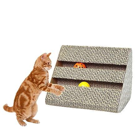 Durable Recyclable Cardboard Catnip Scratching Pad Scratch Lounge Sofa Bed Urijk Cat Scratcher