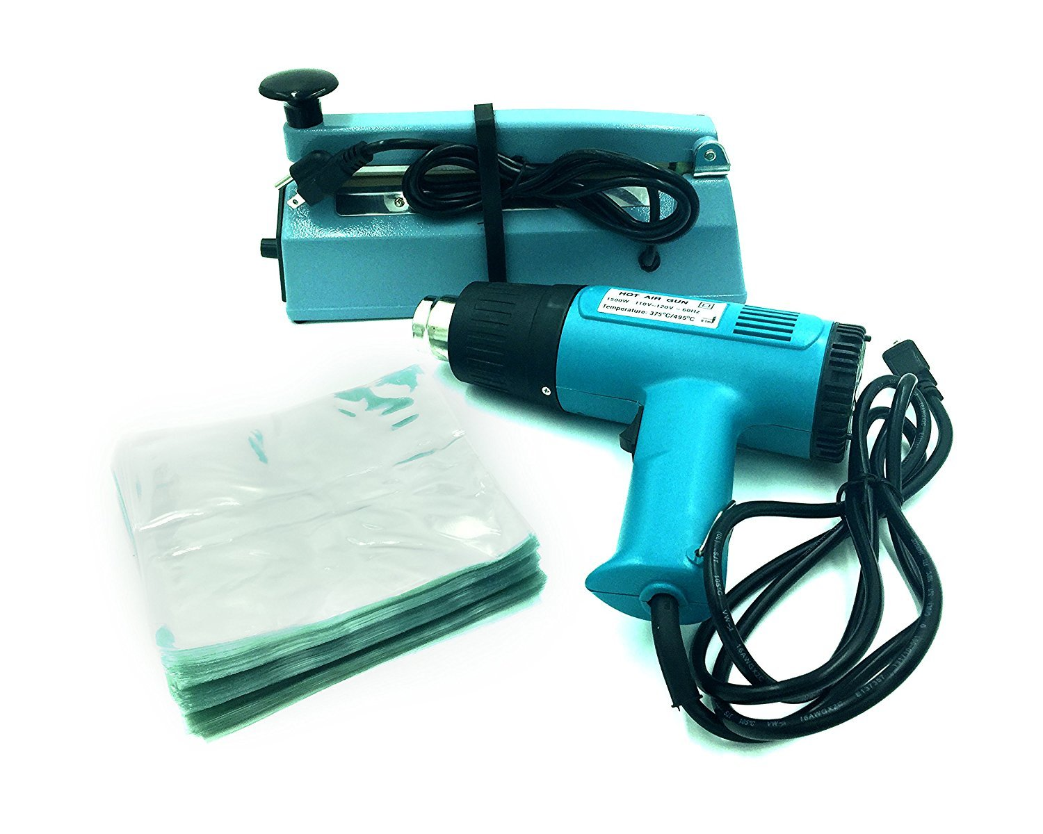 Simplego SWK-8-04CD CD Shrink Wrap System w/ Heat Gun & FS-200 Sealer