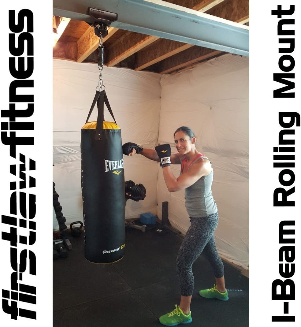 Blue - 3.5-7.0 Wide I-Beam Firstlaw Fitness I-Beam Rolling Punching Bag Mount