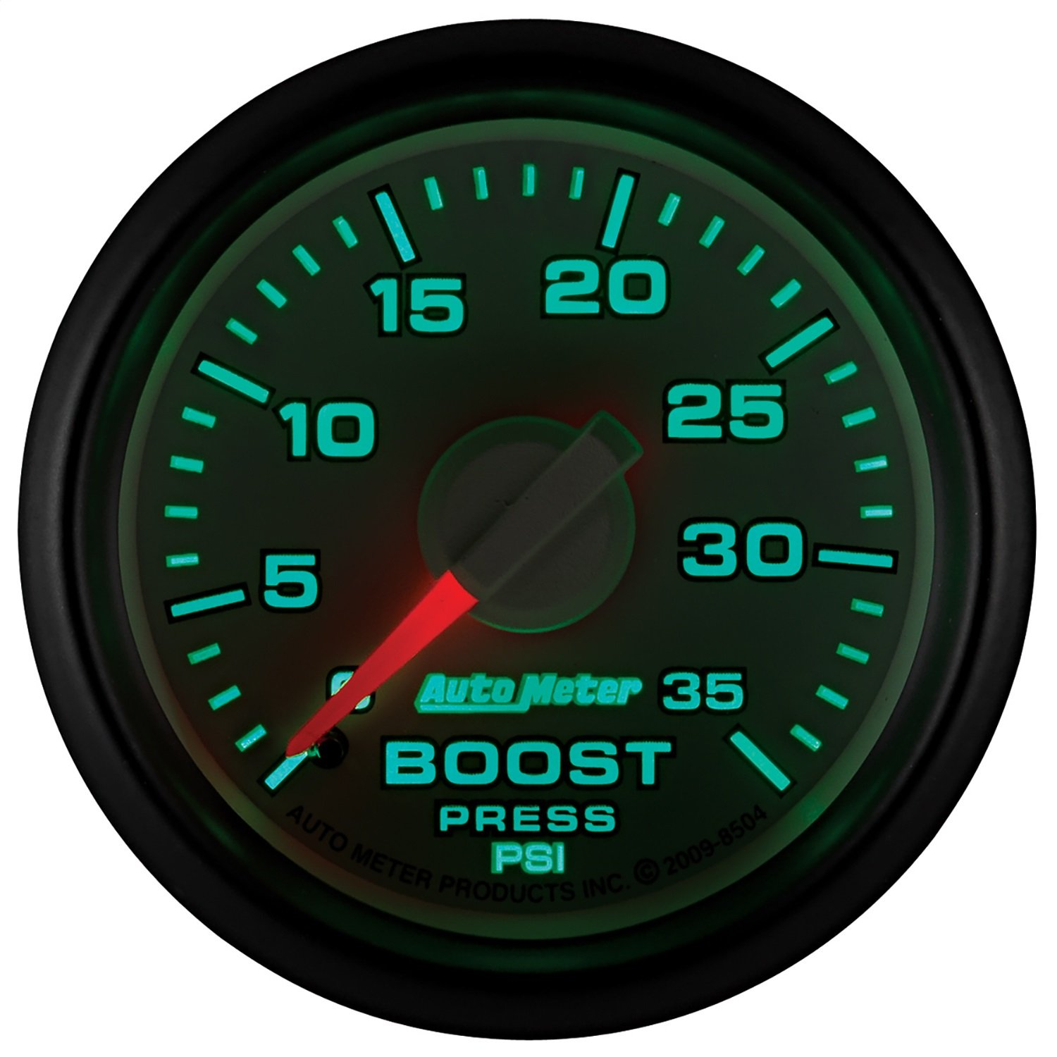Auto Meter 8504 Factory Match 2-1/16'' 0-35 PSI Mechanical Boost Gauge for Dodge