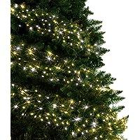 Luces de clúster Luces de árbol 720 LED, blanco cálido y blanco brillante Luces de Navidad para interiores y exteriores…