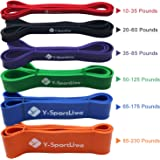 Almondcy Resistance Bands Premium Latex Pull Up Fitness Exercise Bands Workout Strap Exercise Loop Crossfit Bands for Strength Weight Training and Yoga