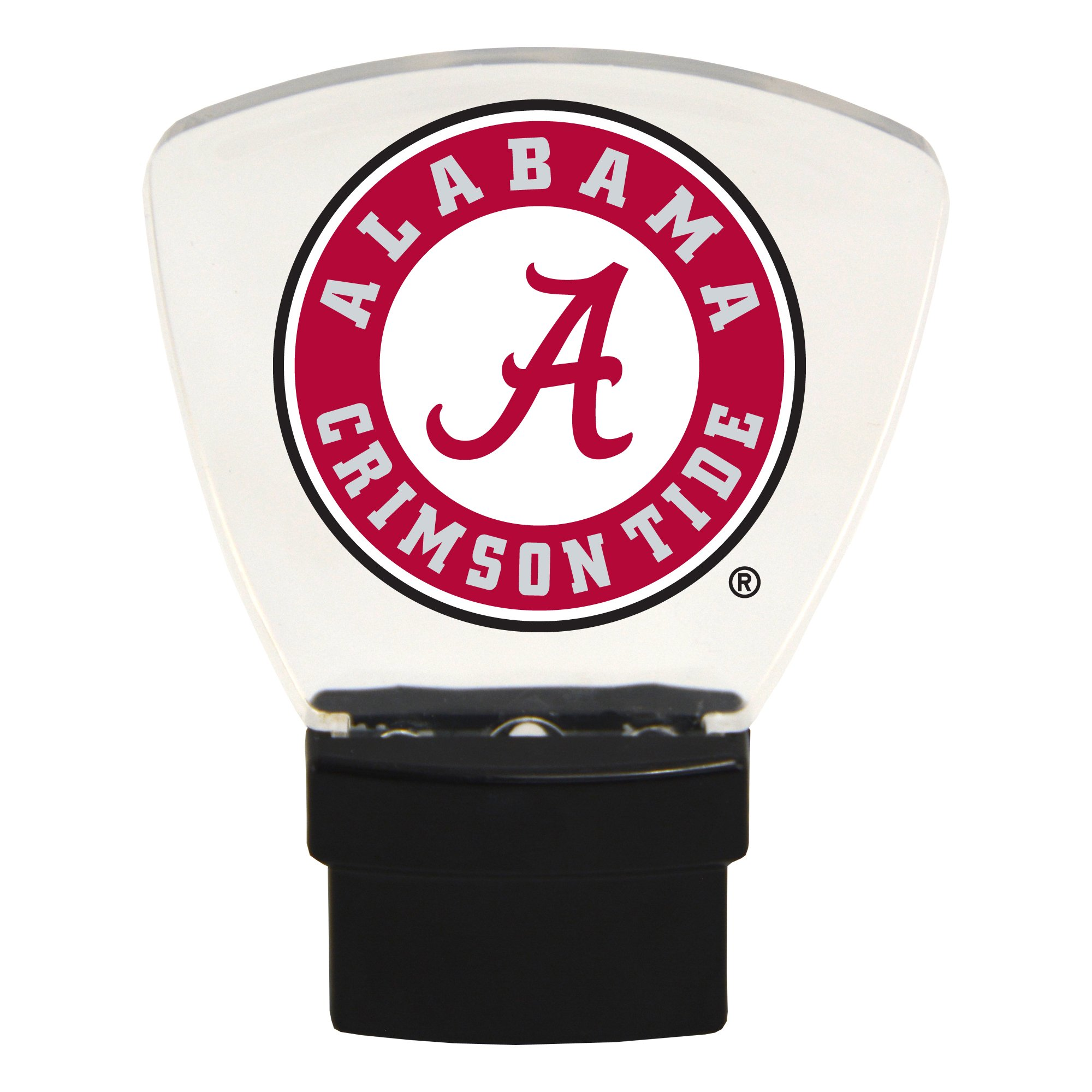 Authentic Street Signs NCAA Officially Licensed-LED Night Light-Super Energy Efficient-Prime Power Saving 0.5 watt, Plug in-Great Sports Fan Gift for Adults-Babies-Kids Room (Alabama Crimson Tide)