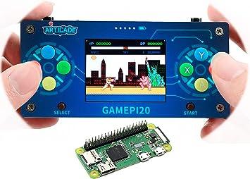 GamePi20 Portable Retro Video Game Console Add-ons Inside Raspberry Pi Zero WH for Raspberry Pi Zero//Zero W//Zero WH to Build GamePi20 2.0inch IPS Display