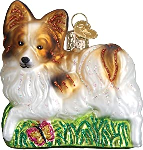 Old World Christmas Glass Blown Ornament Playful Papillon (12492)