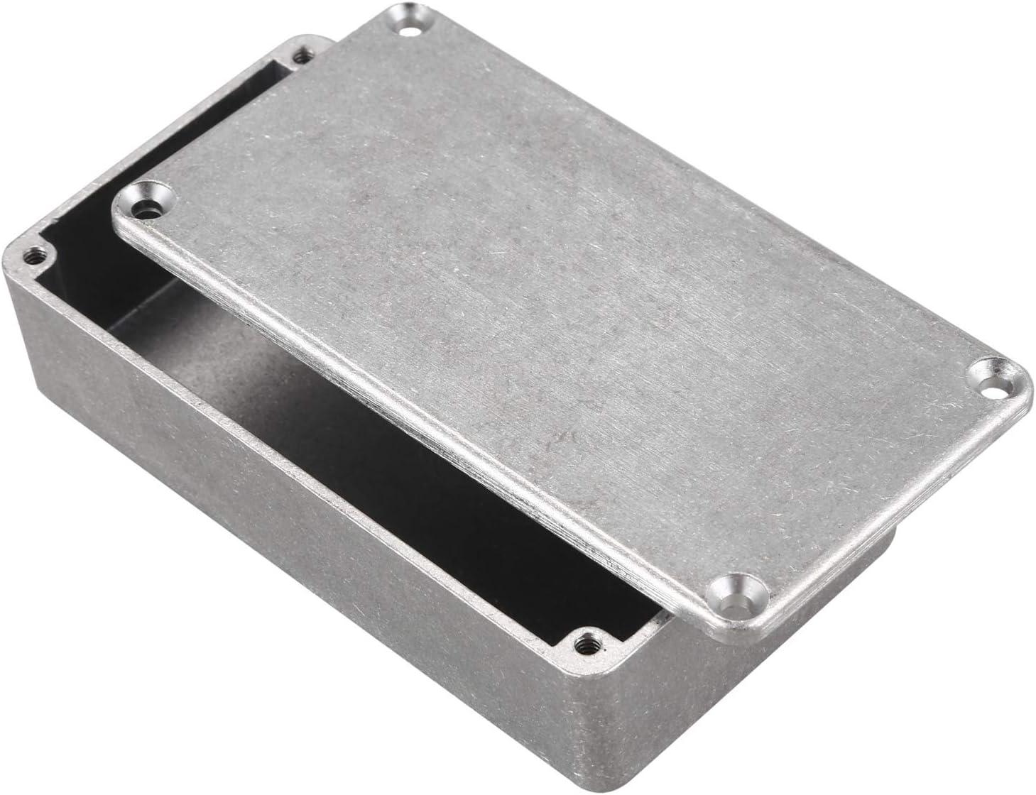 TOOGOO 5 Pcs Guitar Effects Pedal Aluminum Stomp Box Enclosure for DIY Guitar Pedal Kit 1590B