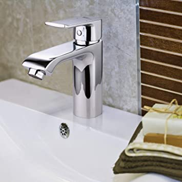 Amzdeal Waschtischarmatur Waschbecken Armatur Mischbatterie Bad Badezimmer Wasserhahn Mit Keramikkartusche Einhebel Waschtisch Armatur Aus Messing Chrom Amazon De Baumarkt