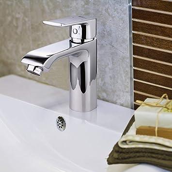 Amzdeal Waschtischarmatur, Wasserhahn Bad Waschbecken Armatur ...