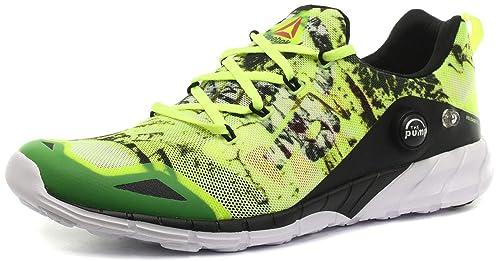 3c7b464ec1b Reebok Men s Zpump Fusion 2.0 Dunes Running Shoes Yellow Grey   White Black  (