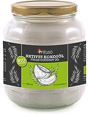 Huile de noix de coco biologique extra vierge, Mituso, 1 Litre (1 X 1000 ml)