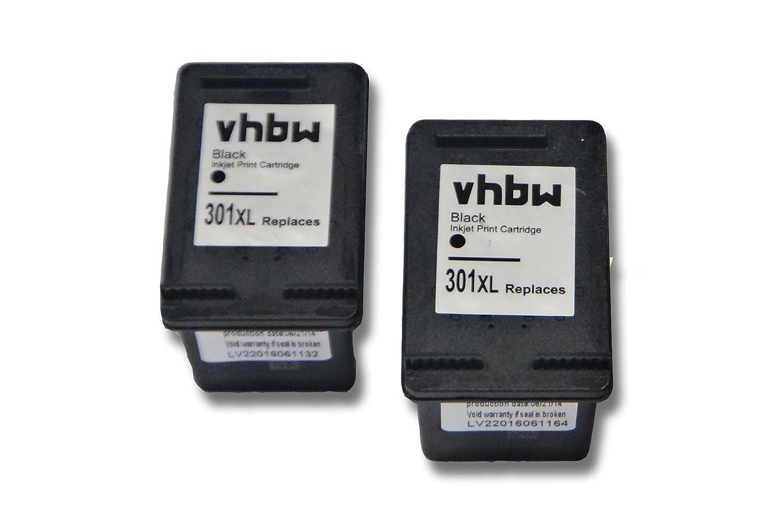 vhbw 2X Cartuchos para Impresora Cartuchos de Tinta Negro ...