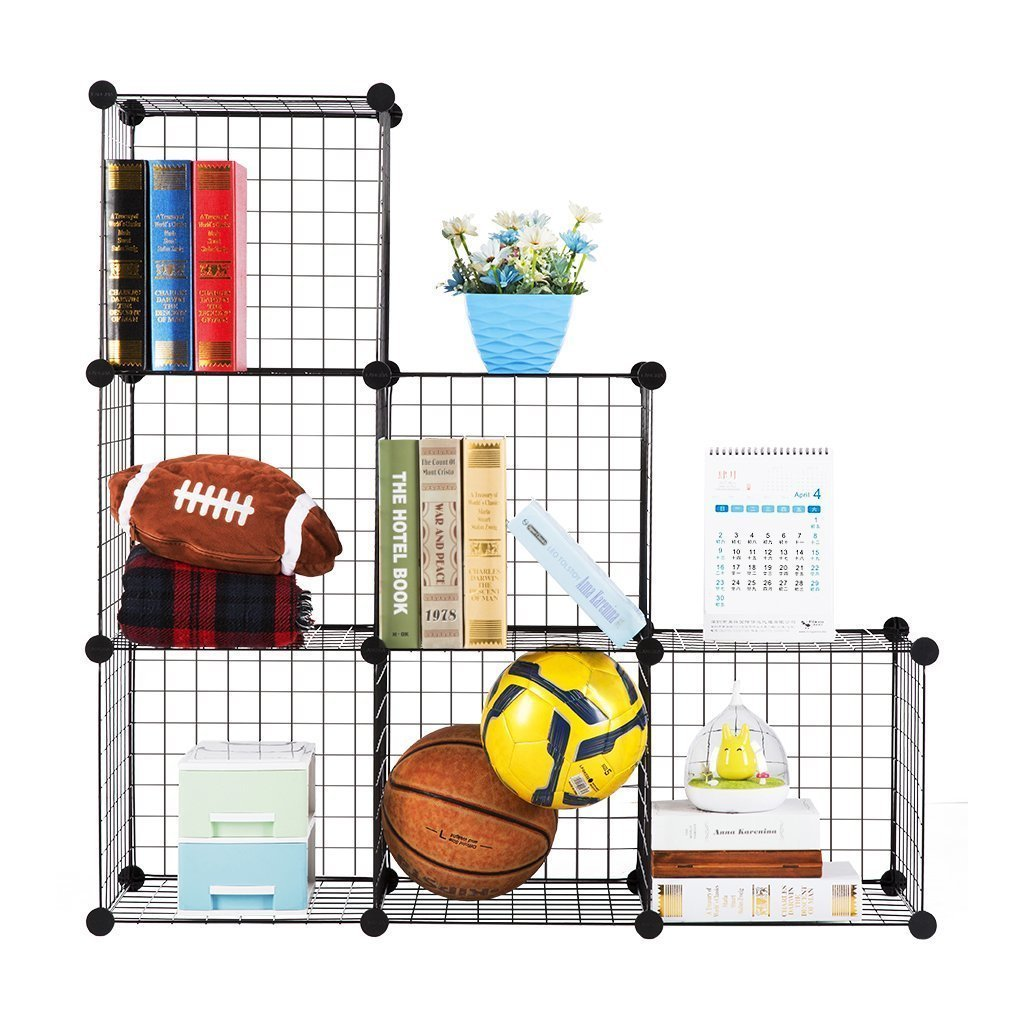 House of Quirk Stainless Steel Storage Cubes Organizer,