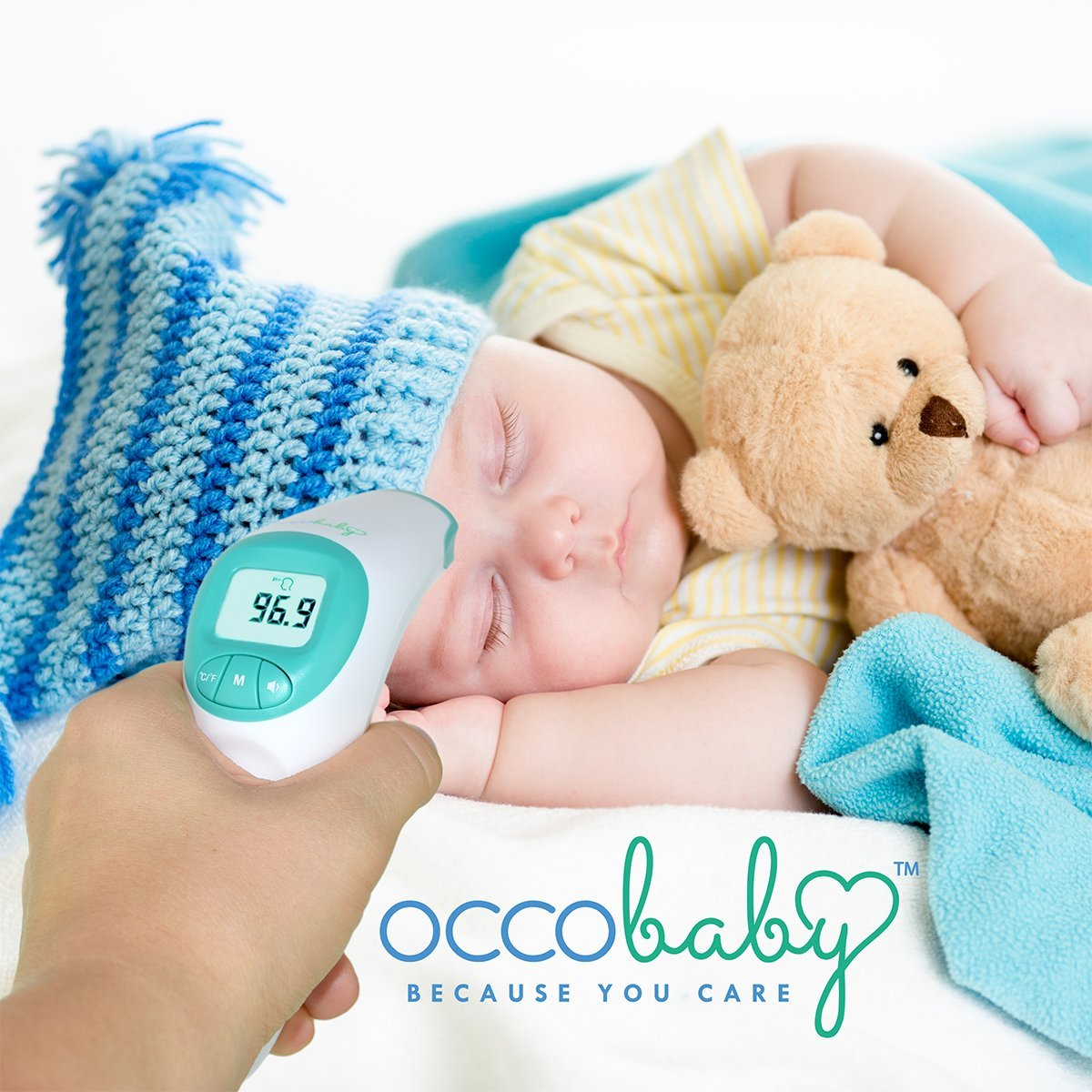 Amazon.com: OCCObaby Clinical Forehead Baby Thermometer - 2018 Edition with Flexible Tip Waterproof Digital Thermometer for Infants & Toddlers   Instant ...