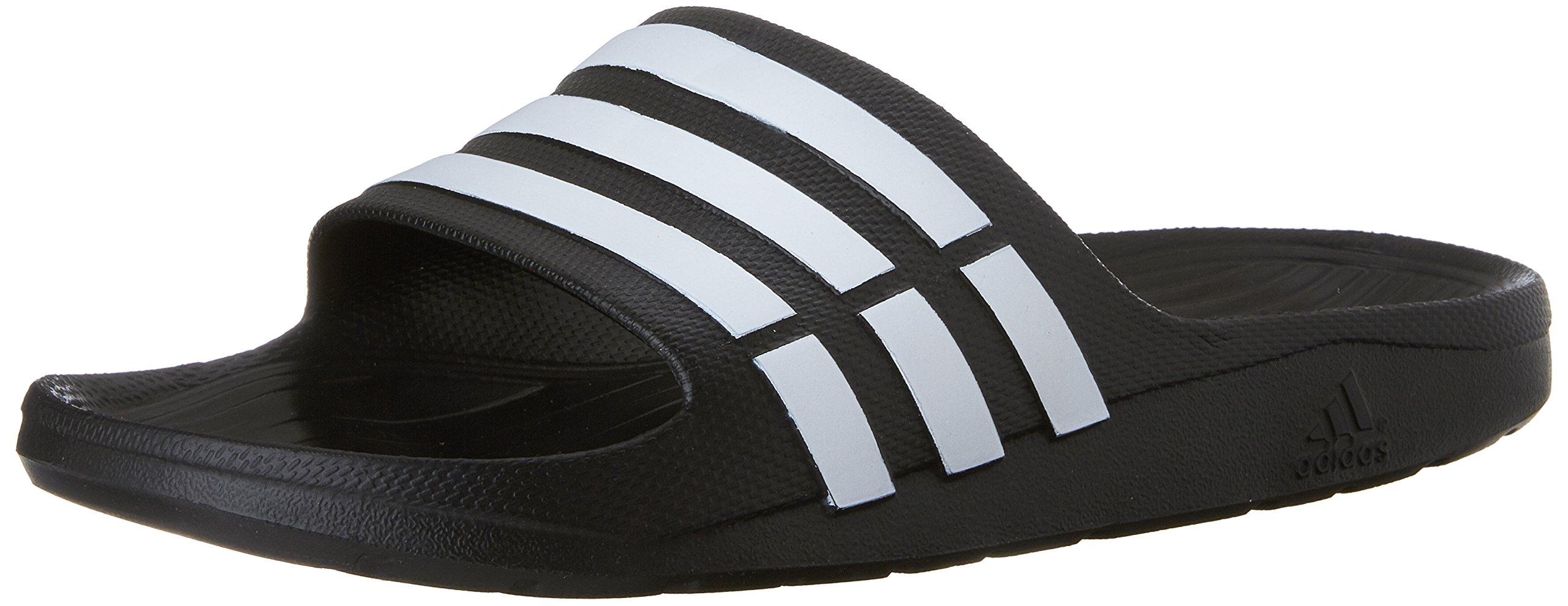 adidas Duramo Slide Sandal,Black/White/Black,13 M US