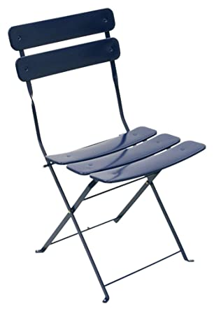Awesome ATC Powder Coated Steel Outdoor Folding Bistro Chair, Blue (Pack Of 2)