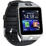 YinoSino DZ09 Smart watch (Supporto Italiano) / orologio Bluetooth / orologio Android / orologio della salute con Touch Screen e fotocamera, slot per scheda SIM e TF, standby a lunga durata, per smartphone Android e iPhone iOS (Argento)