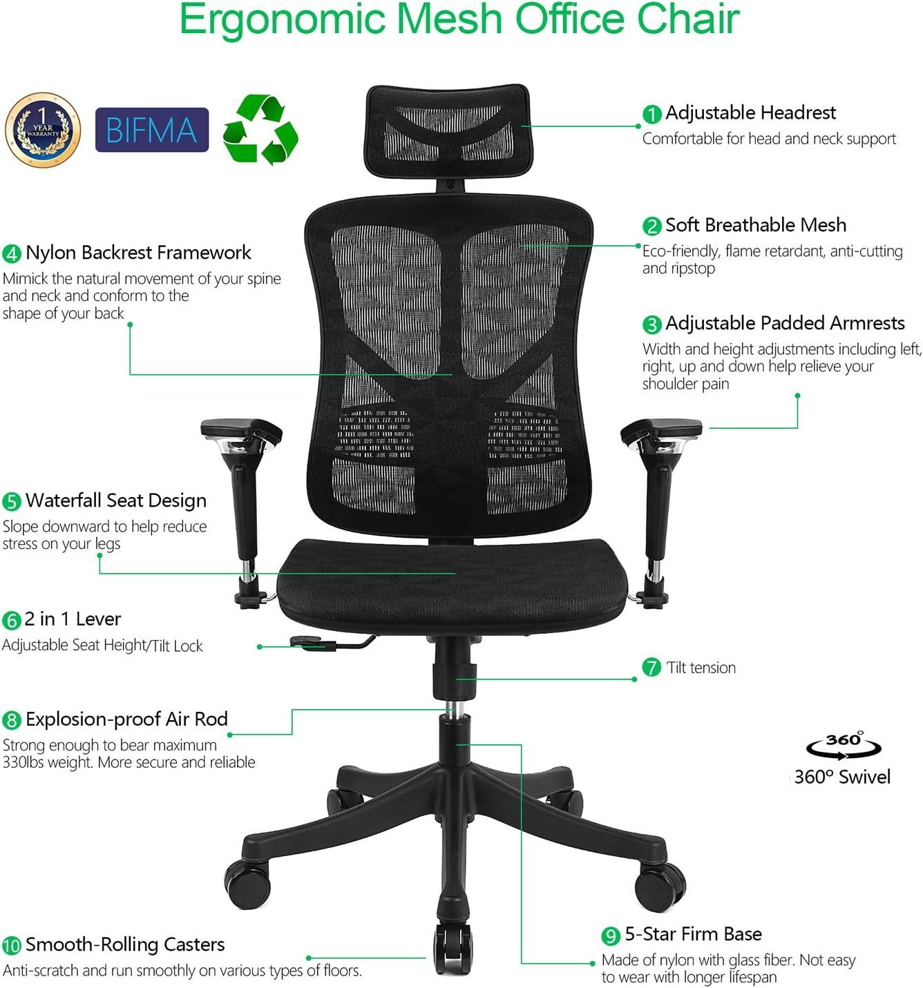 argomax malla ergonómico silla de oficina: Amazon.es: Juguetes y juegos
