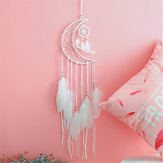 Romantic Red Heart Shape Dream Catcher With Feathers for Wall Hanging Decor