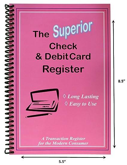 amazon com superior check and debit card register simple account