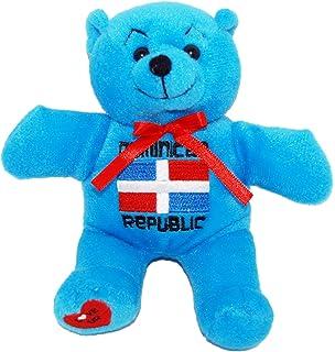 CityDreamShop Dominican Republic Blue Souvenir Plush Bear featuring DR Flag 1685ca05a1b6