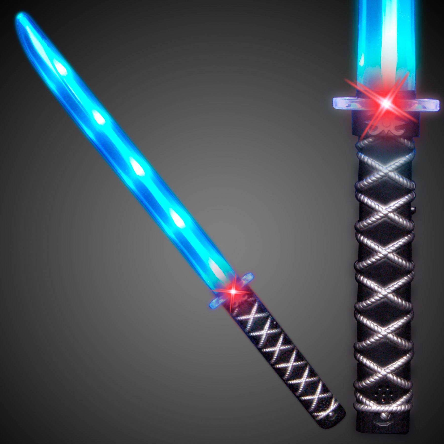 Deluxe Ninja LED Light up Sword with Motion Activated Clanging Sounds by FlashingBlinkyLights (Image #2)