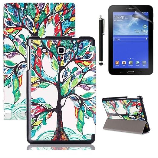 10 opinioni per Custodia Tab A 7'' Flip,PU Pelle Slim Smart Flip Case Cover per Samsung Galaxy