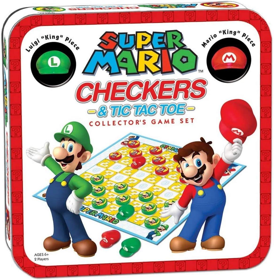 USAopoly USOCM005191 Bros Super Mario Combo Damas/Tic TAC Toe Tin: Amazon.es: Juguetes y juegos