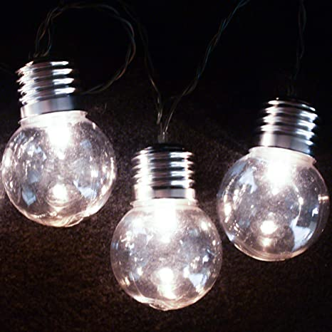 sports shoes 267ae 245fa Garden Mile ® 10x Retro Bulb Solar String Lights Warm White LED 2 Modes  Multi Use Eco Friendly Waterproof Outdoor String Lights Solar Powered Globe  ...